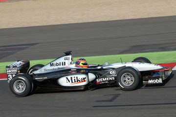 Ex-Mika Häkkinen British Grand Prix winning Mclaren takes to Silverstone track once more
