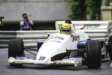 United Autosports restored this Toleman TG 184 racing car, driven by Ayrton Senna.