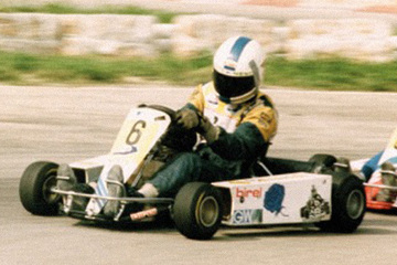 United Autosports restored this 1986 Birel T17 Kart racing car, driven by Mika Hakkinen.