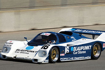 United Autosports restored this 1986 Porsche 962 racing car, driven by James Weaver.
