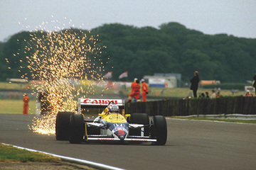 United Autosports restored this 1987 Williams FW11B racing car, driven by Nigel Mansell.