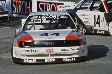United Autosports restored this 1988 Audi 200 Quattro Trans Am racing car, driven by Hurley Haywood.