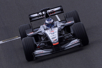 United Autosports restored this 2001 McLaren MP4 16A racing car, driven by Mika Hakkinen.