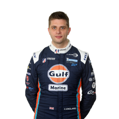 Christian England LMP3 endurance racing car driver with United Autosports