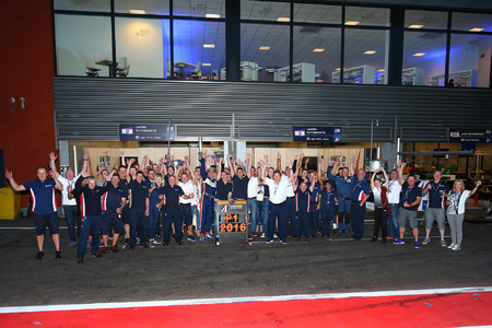 United Autosports team celebrating
