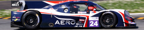 American born Jim McGuire races for the United Autosports team in the LMP3 class.